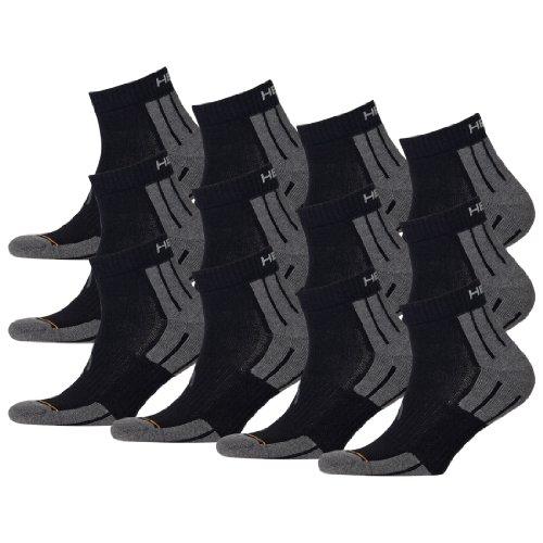 HEAD Unisex Performance Quarter Socken Sportsocken 12er Pack black 200 - 39/42