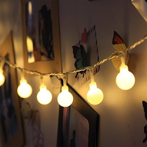 33ft 100 LED 31V Low Safety Power Globe Fairy Lights Starry Lights with End to End Connector for Wedding Birthday Christmas by 90 Points, Warm White with 8 Lighting Modes