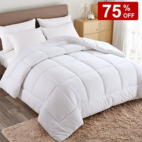 WARM HARBOR King All Season White Down Alternative Quilted Comforter and Duvet Insert - Luxury Hotel Collection Premium Lightweight Hypoallergenic (Luxury King Duvet)