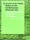 img - for In Search of the Public: Notes on the Contemporary American City book / textbook / text book