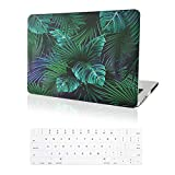 """MacBook Pro 13"""" Retina Case-IC ICLOVER Palm Leaf Plastic Rubberized Hard Shell Cover"""