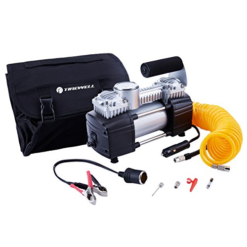 TIREWELL 12V Tire Inflator-Heavy Duty Double Cylinders Direct Drive Metal Pump 150PSI, Compressor wi - http://coolthings.us