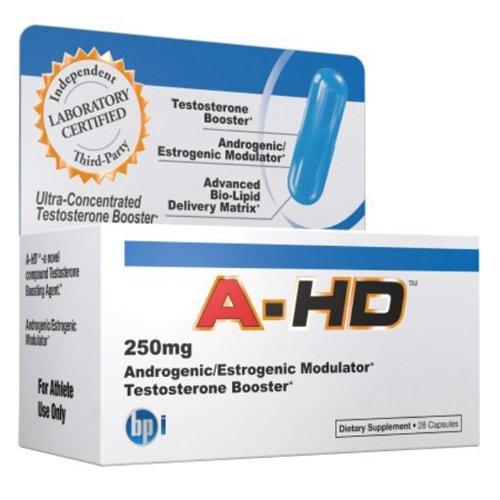 BPI HD Testostérone anti-aromatase, 250mg, 28 capsules