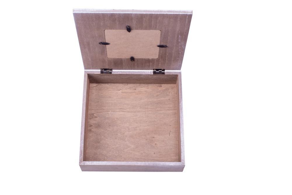 Amazon.de: Danto® Rivanto Holz-Geschenkbox mit Herz-Bilderrahmen ...
