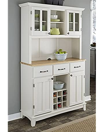 White Kitchen Buffet Hutch Faucets At Walmart Image Of And ...