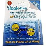 HOOK-EZE Fishing Gear Knot Tying Tool | Line Cutter | Cover Hooks on Fishing Poles Bass Kayak Ice Fishing