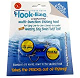 HOOK-EZE Fishing Gear Knot Tying Tool for Hooks Jigs Swivels | Line Cutter |Cover Hooks on Fishing Poles Travel Safely Fully Rigged.