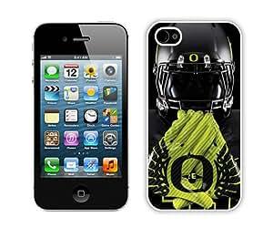 Unique iPhone 4 4S Oregon Ducks 03 White Screen Phone Case Fashion and Popular Design