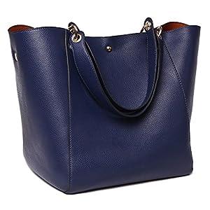 TIBES mode sac à bandoulière en cuir synthétique imperméable sac à main A Bleu profond