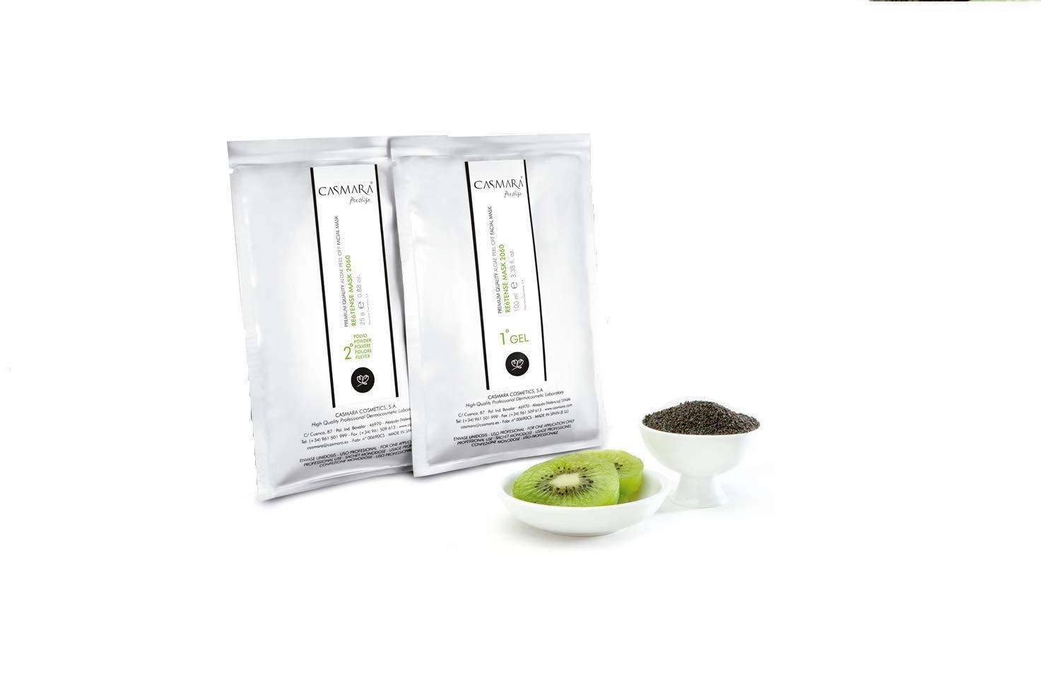 Casmara Premium Quality Algae Peel Off Facial Masks 4.26 Ounce/mask Gel(3.38 Oz)/Mask Powder(0.88 Oz) (re6tense) by Casmara