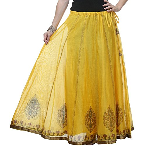 Cotton Length Calf Pezzava Handicrfats From Skirt Women's Indian Wraparound Mid Export t7qCPHfw