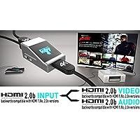 HDFury AVR Key 18Gbps | HDMI Audio Extractor | 4K HDR Splitter