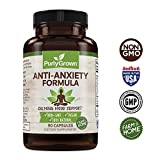 Anxiety and Stress Relief Herbal Supplement: Natural Serotonin Booster For Relaxation, Mood and Focus - Includes Ashwagandha, Biotin, Vitamin B12, Niacin, Magnesium - Promotes Calm and Improved Energy