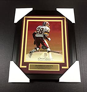 Signed Darrell Green Photo - Leaf Framed 8x10 Sgc Coa - Autographed NFL Photos