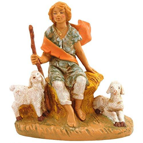 Fontanini Peter Boy With Sheep * Nativity Village Collectible 54049 (Fontanini Sheep)