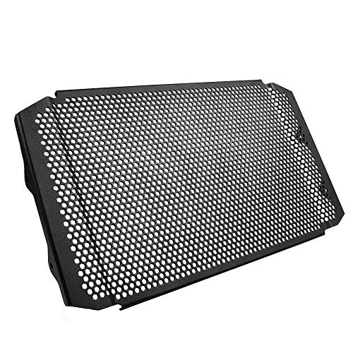 MT09 FZ09 Motorcycle Radiator Grille Guard Cover Aluminum Alloy Protector for Yamaha FZ09 FZ 09 MT09 MT-09 2017 2018 2019 XSR900 2016 2017 2018 Tracer 900 2018(BLACK)