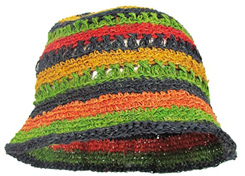 142ea335f03 a2zgift4u Hobo Bohemian Hippie Hemp Summer Outdoor Sun Bucket Hat ...
