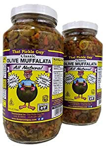 2 Pack That Pickle Guy Classic Olive Muffalata (2 X 24oz)
