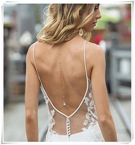 Backdrop Necklace (Backdrop Necklace,Wedding Accessories,Jewelry,Wedding Jewelry, Body Chain)