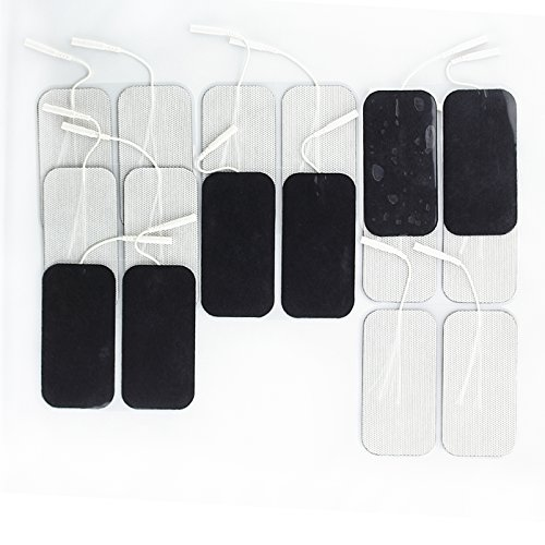 "Syrtenty Premium TENS Unit Electrodes 2""x4"" rectangular 16 pack Electrode for TENS Massage EMS - 100% Satisfaction Guarantee"