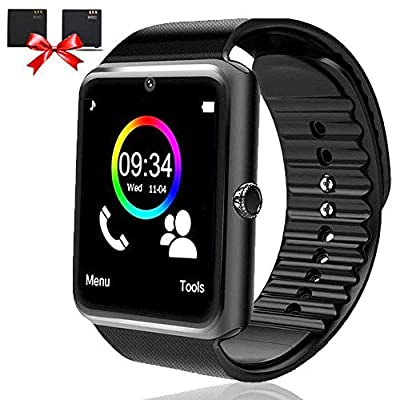 Bluetooth Smart Watch - Smartwatch for Android Phones with SIM Card Slot Camera, Fitness Watch with Sleep Monitor, Pedometer Watch for Men Women Kids Compatible iPhone Samsung LG Huawei HTC Smartphone
