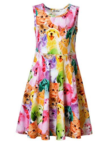Jxstar Cat Party Supplies Girls Size 6 Clothes Girls Size 7 Clothes Cat Dog 130