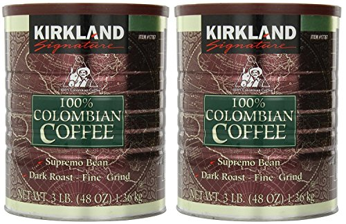 (Signature 100% Colombian Coffee Supremo Bean Dark Roast-Fine Grind, 6 Pound ,Signature-ykgj)