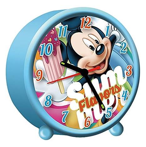 Kids Euroswan Despertador Redondo de 9 cm Modelo Mickey Mouse, Compuesto, 8x3x6 cm: Amazon.es: Hogar