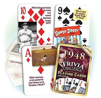 Amazon.com: 1948 Trivia Juego de cartas: 69th Cumpleaños o ...