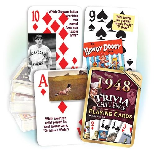 1948 Trivia Playing Cards: 70th Birthday or Anniversary - Indianapolis Mens Warehouse