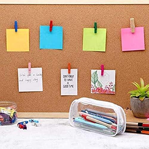 puntine da pollice clip di carta con perni per bacheche in sughero Laqi foto da parete e artigianato appunti 20 spille da spinta con clip in legno