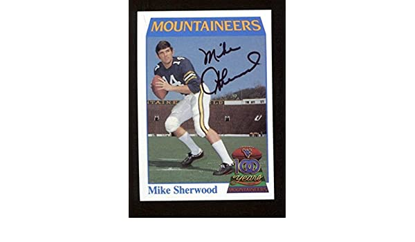 9a17097b2 Mike Sherwood Signed 1991 College Classics West Virginia Card  34  Autographed - Autographed College Cards at Amazon s Sports Collectibles  Store