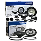"Brand New Alpine 6.5"" 2-way Car audio component system + SXE-6925S 6x9"" 2-way"