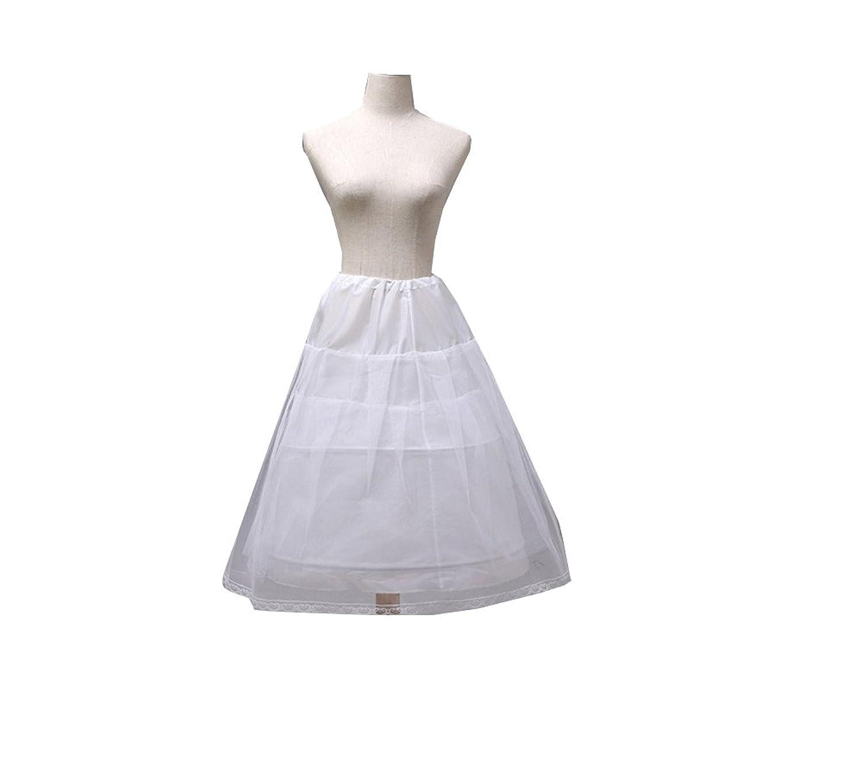 2a09a475e61 Jupon Long De Robe De Mariage Cérémonie Fête Danse Spectacle En Tulle 2  Cerceau 2 Couches Petticoat Crinoline Pour Fille Elégant Blanc
