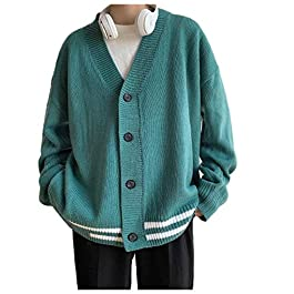 Men's  V-Neck Knit Casual Cardigan Pullover Knitwear
