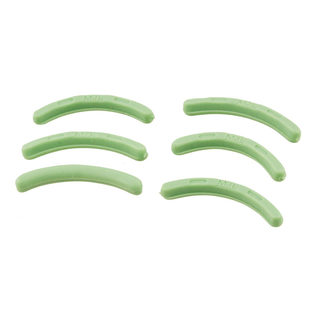 uxcell 6 Pcs Green Cosmetic Accessories Rubber Replacement Eyelash Curler Pad a12051800ux0114
