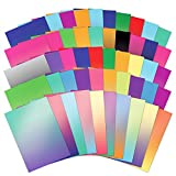 Hunkydory 50 Shades of Mirri Ombre 50 Different Color Sheets in Rich 220gsm Mirror Board