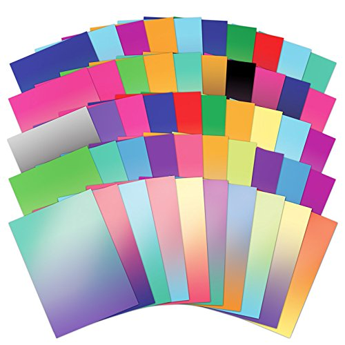 Hunkydory 50 Shades of Mirri Ombre 50 Different Color Sheets in Rich 220gsm Mirror Board by HunkyDory Crafts (Image #1)