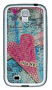 Samsung Galaxy S4 I9500 Flexible TPU case with Retro Style Image Vintage Heart and Quote