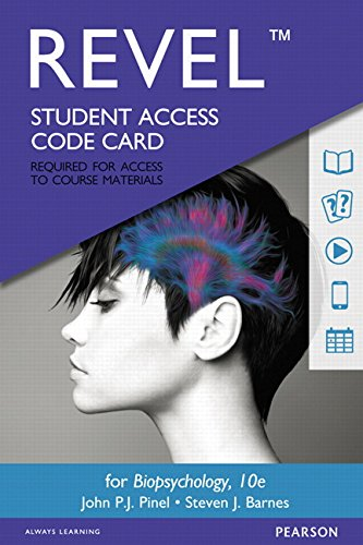 REVEL for Biopsychology -- Access Card (10th Edition)