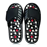 Massage Orthotic Reflexology Sandals with Acupressure Knobs Black