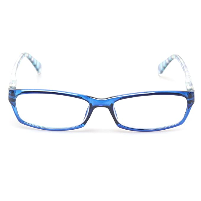 f73ac46a75f6 Amazon.com  Reading Glasses 5 Pairs Fashion Ladies Readers Spring Hinge  with Pattern Print Eyeglasses for Women (5 Pack Blue