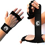 AMRAP Gear Ultimate Cross Training Gloves By Gym Workout Hand Protectors, Weightlifting WOD Wraps For Men & Women, Stylish & Comfortable Exercise Wrist Guards (Black, Medium)