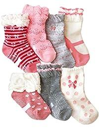 Baby Girl's Socks Princess Non-skid Socks for Infants and...
