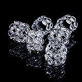 Feyarl Handmade Napkin Rings Sparkly Crystal Beads