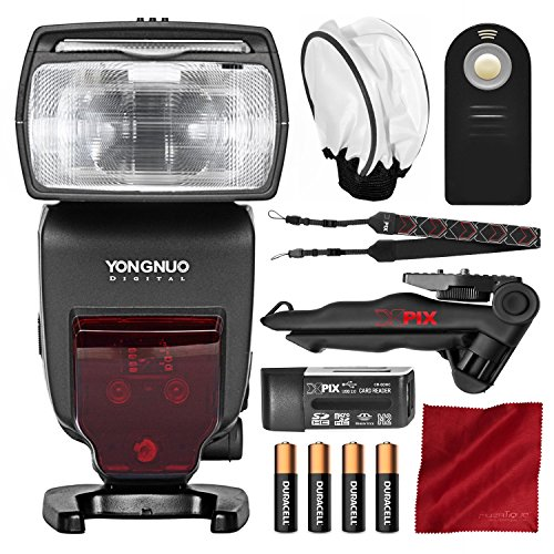 Yongnuo YN685 Wireless TTL Speedlite for Canon Cameras with Flash Diffuser, Camera Shoulder Strap, and Basic Photo Bundle