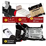 Police Department IPOK''Individual Patrol Officer Kit'' Bleed Control Package w/CAT Tourniquet and S-Rolled Gauze (6 Pack) (Chito Gauze)