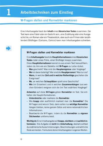 Training Deutsch Aufsatz Inhaltsangabe 78 Schuljahr Amazonde