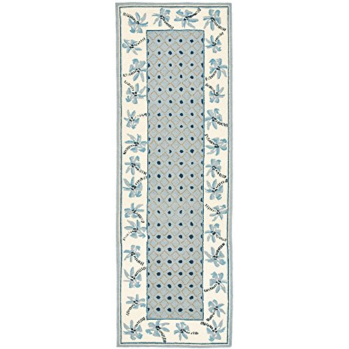 Safavieh Chelsea Collection HK724A Hand-Hooked Blue and Ivory Premium Wool Area Rug (2'6