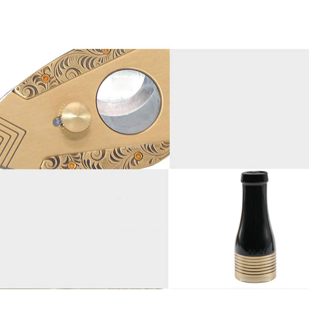 Cigar Smoking Gift Set, Brass Cigar Holder, Ashtray, Cigarette Holder, Cigar Tube 6 Piece Set by LTLSF (Image #7)